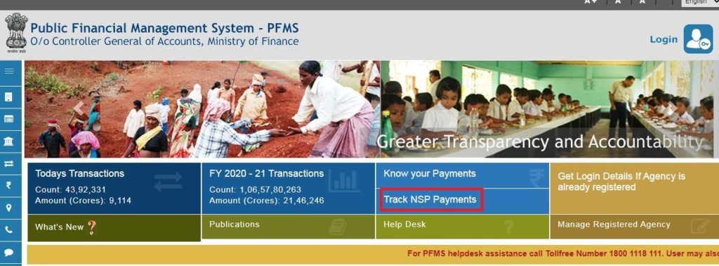 NSP track payment
