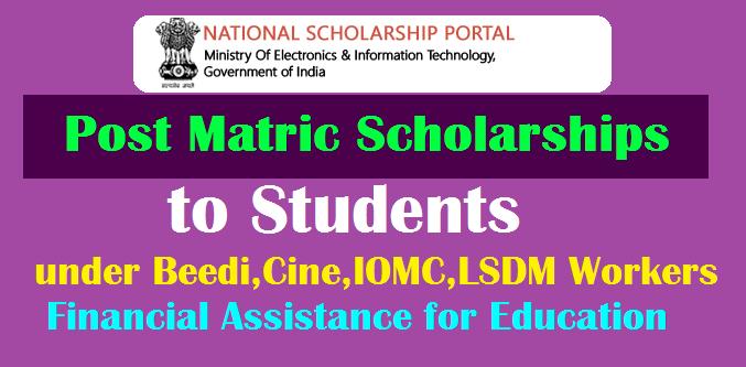 Post-Matric Financial Assistance Scheme for Education